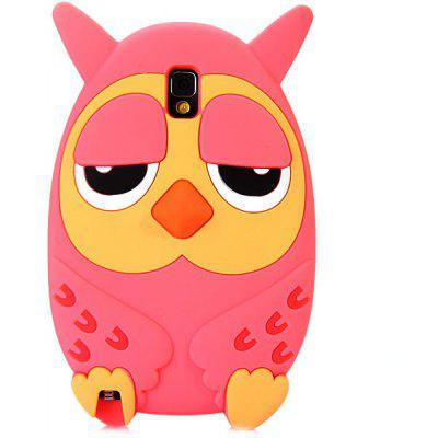 Silicone Material Owl Design Protective Case Cover with Cute Pattern for Samsung Galaxy Note 3