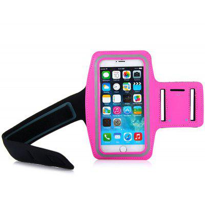 High Quality Lycra Sports Armband Pouch Cover Case with Double Holes Design for iPhone 6 Plus  -  5.5 inches