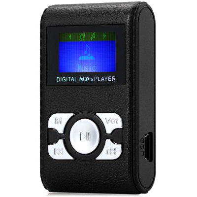 Rectangle Style Digital Screen MP3 Player with Universal 3.5mm Jack Stereo Sound Support TF Card