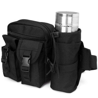 Practical Military Style Multipurpose Waist Bag with Bottle Pack for Camping Traveling Home Outdoor
