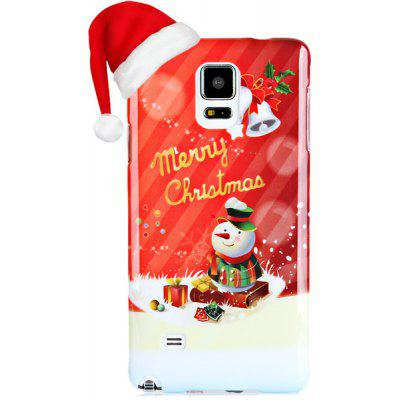 Fashionable PC Material Christmas Snowman Pattern Back Cover Case for Samsung Galaxy Note 4 N9100