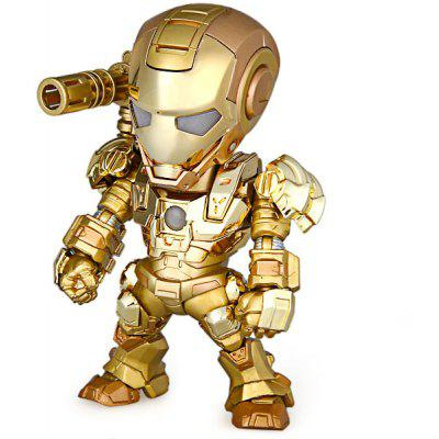 Super Cool American Hero Q Version Iron Man Rotatable Joints PVC Toy Figure Model Best Gift