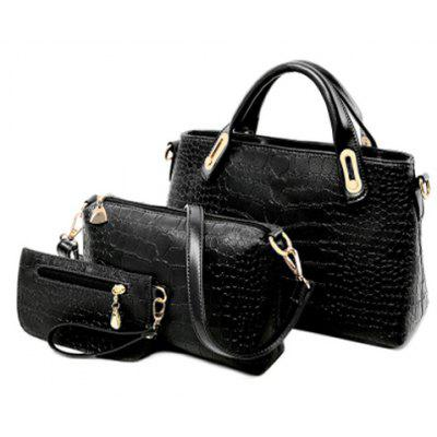 Stylish Style PU Leather and Crocodile Print Design Women's Tote Bag