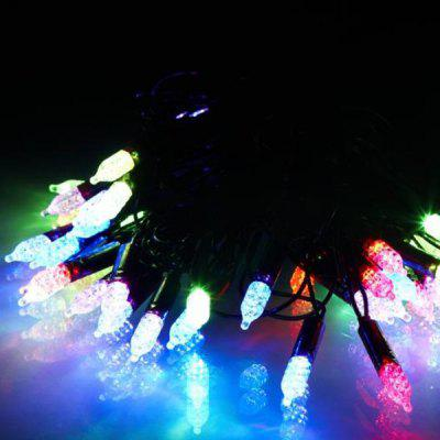 Exquisite 6m LED String Light Water Resistant 40t Base RGB Lamp Christmas Adornment Xmas Stores Decorations Birthday Festival Party Supplies