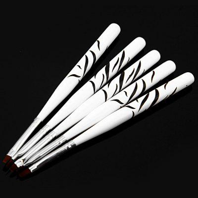 5pcs Cosmetic Nail Art Polish Painting Draw Pen Brush UV Gel Brush