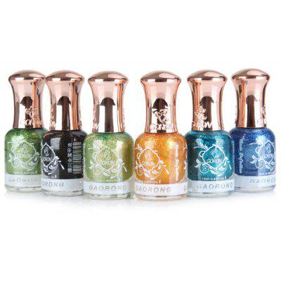 6Pcs Colorful Nail Polish Glue