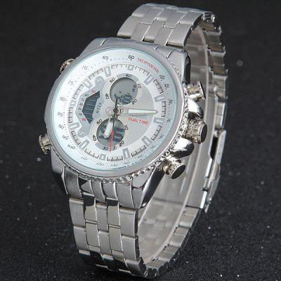 Skmei 0993 Double Time Men Quartz Digital Watch 3ATM Water Resistant with Date Week Stainless Steel BandMens Watches<br>Skmei 0993 Double Time Men Quartz Digital Watch 3ATM Water Resistant with Date Week Stainless Steel Band<br><br>Available Color: Black,White<br>Band color: Silver<br>Band material: Stainless Steel<br>Brand: Skmei<br>Case material: Stainless Steel<br>Clasp type: Folding clasp with safety<br>Display type: Analog<br>Movement type: Double-movtz<br>Package Contents: 1 x Watch<br>Package size (L x W x H): 16.50 x 5.50 x 2.50 cm / 6.5 x 2.17 x 0.98 inches<br>Package weight: 0.203 kg<br>Product size (L x W x H): 15.50 x 4.50 x 1.50 cm / 6.1 x 1.77 x 0.59 inches<br>Product weight: 0.139 kg<br>Shape of the dial: Round<br>Special features: Date, Week, Light<br>The band width: 2.0 cm / 0.8 inches<br>The dial diameter: 4.5 cm / 1.8 inches<br>The dial thickness: 1.5 cm / 0.6 inches<br>Watch style: Business<br>Watches categories: Male table<br>Water resistance: 30 meters