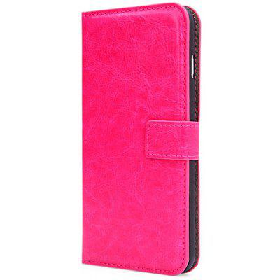 Artificial Leather and Plastic Material Stand Case Cover with Card Holder for iPhone 6 Plus  -  5.5 inches
