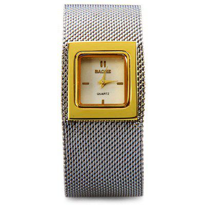 Baohe JDW016 Female Quartz Watch Steel Band Rectangle DialWomens Watches<br>Baohe JDW016 Female Quartz Watch Steel Band Rectangle Dial<br><br>Available Color: Gold,Brown,Black<br>Band material: Steel<br>Case material: Stainless Steel<br>Clasp type: Buckle<br>Movement type: Quartz watch<br>Package Contents: 1 x Watch<br>Product size (L x W x H): 19 x 2.5 x 1.0 cm / 7.5 x 1.0 x 0.4 inches<br>Product weight: 0.062 kg<br>Shape of the dial: Rectangle<br>Style: Fashion&amp;Casual<br>The band width: 2.5 cm / 1.0 inches<br>The dial diameter: 2.2 cm / 0.9 inches<br>The dial thickness: 1.0 cm / 0.4 inches<br>Watches categories: Female table