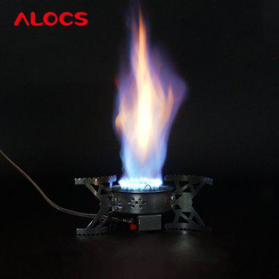 ALOCS CS - G04 Split Hurricane Ultralight Folding Stove Gas Furnace Burner for Outdoor Cookout Backpacking