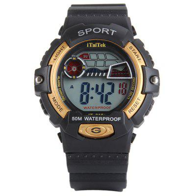 iTaiTek 816 LED Sports Military Watch with Week Date Stopwatch Alarm FunctionSports Watches<br>iTaiTek 816 LED Sports Military Watch with Week Date Stopwatch Alarm Function<br><br>Available Color: Black,Red,Blue,Yellow<br>Band material: PVC Plastic<br>Clasp type: Pin buckle<br>Display type: Numbers<br>Movement type: Digital watch<br>Package Contents: 1 x Watch<br>People: Unisex table<br>Product size (L x W x H): 25.5 x 4.0 x 1.5 cm / 10.0 x 1.6 x 0.6 inches<br>Product weight: 0.041 kg<br>Shape of the dial: Round<br>Special features: Week, Alarm Clock, Date, Stopwatch<br>The band width: 2.0 cm / 0.8 inches<br>The dial diameter: 4.0 cm / 1.6 inches<br>The dial thickness: 1.5 cm / 0.6 inches<br>Watch style: Outdoor Sports, LED, Military, Fashion&amp;Casual