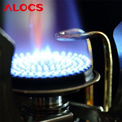 ALOCS CS - G11 Split Wing Ultralight Folding Stove Gas Furnace Burner for Outdoor Cookout Backpacking