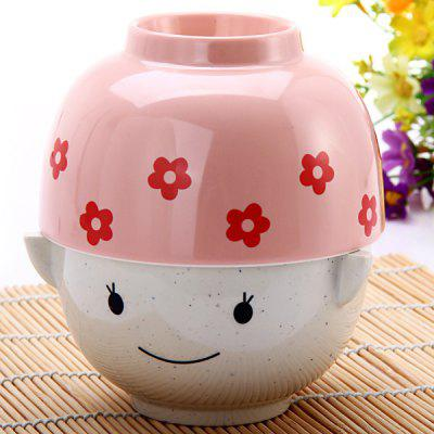 Set of MM Cartoon Couple Paragraph Doll Bowl Rice Soup  Bowl Christmas Valentine Gift for Children Lovers