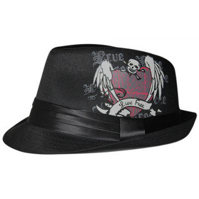 Chic Skull Print Solid Color Hat For Men