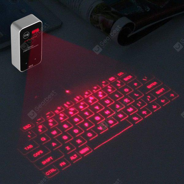 GDL003 Wireless Bluetooth Laser Projection Pocket Virtual Keyboard for Apple iPhone iPad Android PC