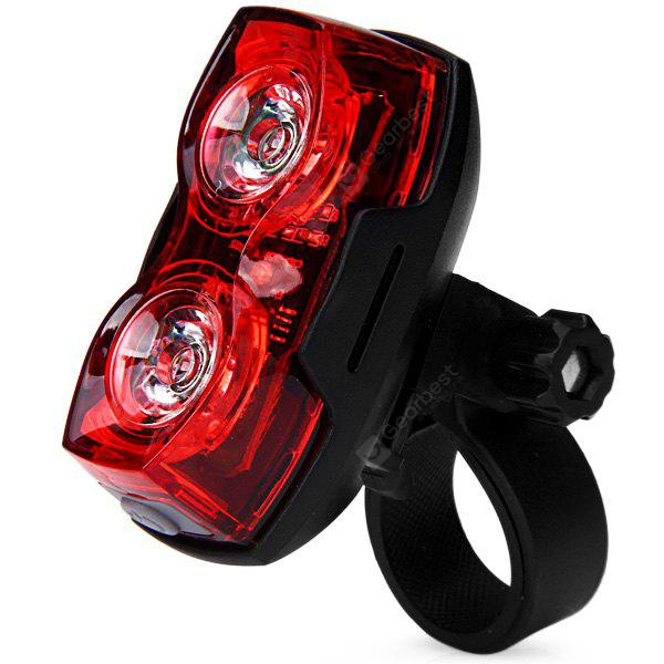 Super Bright 1W 2 LEDs Bicycle Rear Safety Taillight Bike Rainproof Tail Light Cycling Lamp