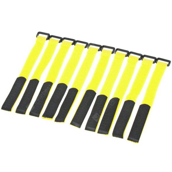 10pcs Battery Hook Loop Velcro Reusable Cable Tie Down Straps (28cm)