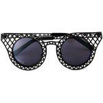 Personalized Hollowed - out Cateye UV400 PC Sunglasses Eyewear Metal Grid Frame Eyes Protector Outdoor Leisure Necessities
