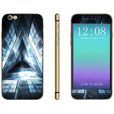 Triangular Prism Pattern Design Phone Decal Skin Protective Full Body Sticker for iPhone 6 Plus  -  5.5 inches