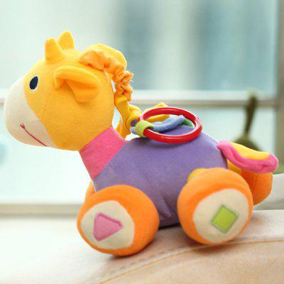1Pc 18cm Plush Stuffed Toy Baby Horse Feet with Different Sounds Educational Toy  -  Purple Color