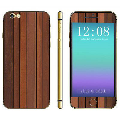 Wood Grain Pattern Design Phone Decal Skin Protective Full Body Sticker for iPhone 6 Plus  -  5.5 inches