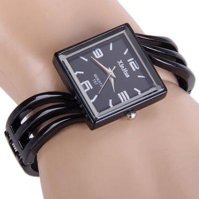 Xinhua 757 Women Quartz Watch Bracelet Steel Strap Rectangle Dial