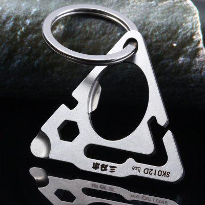 Sanrenmu GJ012D Multifunctional Tool Bottle Opener Key Ring for Home Outdoor Gadget