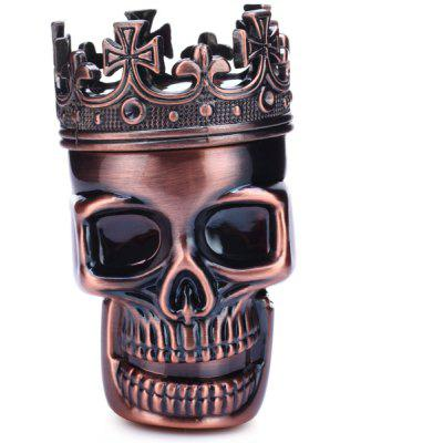 Skull King Shape Design Herb Grinder Red Copper Whet Machine with Magnetic