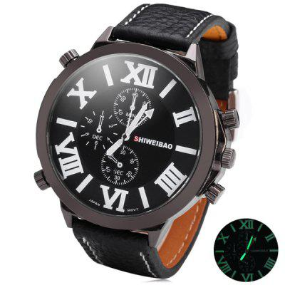Shiweibao 3273 Luminous Quartz Movt Male Watch