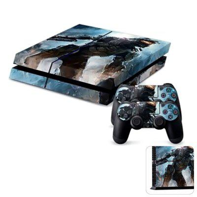 Protective Game Player and Controller Skin Sticker for PS4  -  Active Sci - fi Surface Design