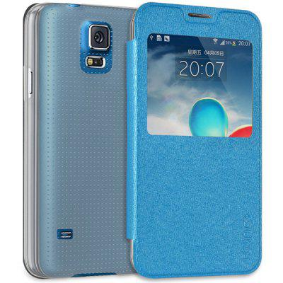 Practical PC and PU Material Protective Cover Case with View Window