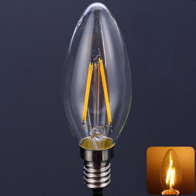 C35E14 - 2C2 E14 2W 160Lm Nostalgic Flame Filament Candle Lamp  -  Warm White