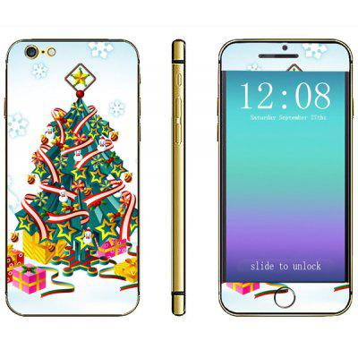 Christmas Tree Pattern Design Phone Decal Skin Protective Full Body Sticker for iPhone 6 / 6S - 4.7 inches