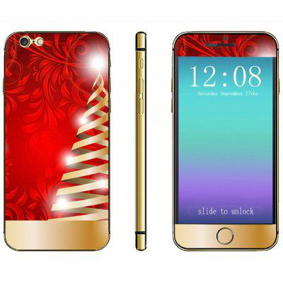 Christmas Color Strip Pattern Design Phone Decal Skin Protective Full Body Sticker for iPhone 6 / 6S - 4.7 inches