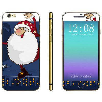 Protective and Decorative Full Body Sticker Father Christmas Pattern Design Phone Decal Skin for iPhone 6  -  4.7 inches