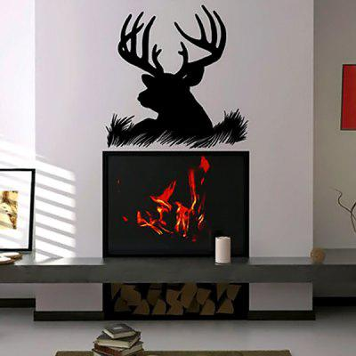 Removable Elk Sticker Deer Wallpaper Art Decor Mural Design for Indroom Decoration