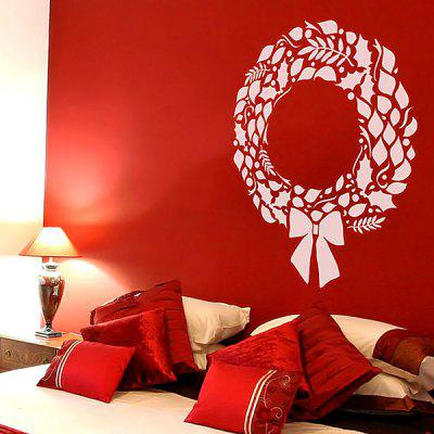 Removable Christmas Wreath Wall Sticker Xmas Wreath