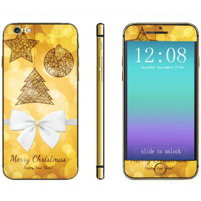 Anti - scratch Phone Full Body Sticker with Christmas Tree Bowknot Pattern for iPhone 6  -  4.7 inches