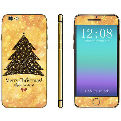 Anti - scratch Phone Full Body Sticker with Christmas Tree Snowflake Pattern for iPhone 6  -  4.7 inches