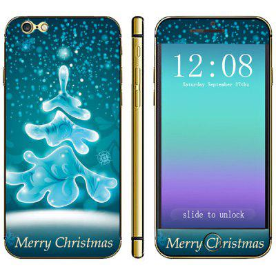 Anti - scratch Phone Full Body Sticker with Christmas Tree Dots Style for iPhone 6  -  4.7 inches