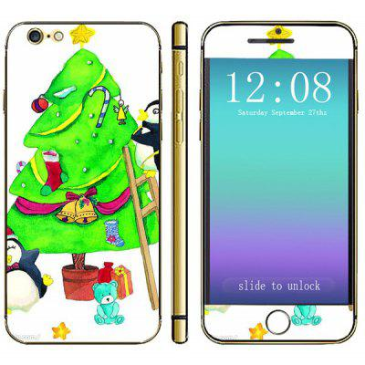 Anti - scratch Mobile Phone Full Body Sticker with Christmas Tree Bear Style for iPhone 6  -  4.7 inches
