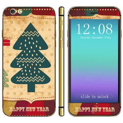 Anti - scratch Mobile Phone Full Body Sticker with Christmas Tree Dots Style for iPhone 6  -  4.7 inches
