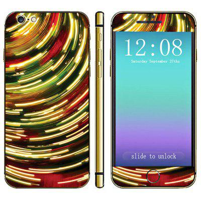Anti - scratch Phone Full Body Sticker with Colorful Stripes Style for iPhone 6  -  4.7 inches