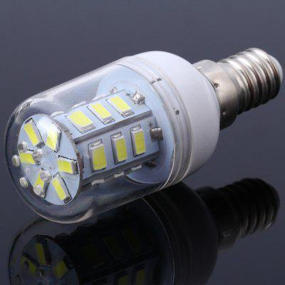 5W E14 SMD 5730 24 - LEDs Transparent Shelled Dimmable LED Corn Bulb  -  White Light
