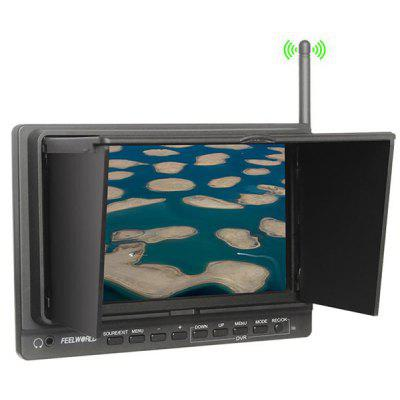 New PVR - 758 7 inch Feelworld PVR Monitor  -  Build - in 5.8GHZ Receiver with Sun Shield