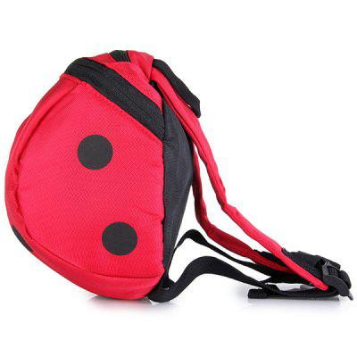 Fashionable Ladybird Pattern Backpack Shoulders Bag Schoolbag with Safety Harnesses for Children