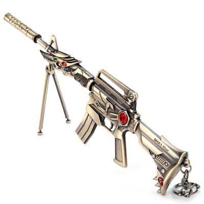 Popular Cross Fire CF Dragon Gun Model Doll Key Ring Classic Collection DecorationKey Chains<br>Popular Cross Fire CF Dragon Gun Model Doll Key Ring Classic Collection Decoration<br><br>Age: Small parts not for children under 3 years<br>Feature Type: European and American<br>Material: Metal<br>Package Contents: 1 x Cross Fire Gun Model, 1 x Holder, 2 x Screw<br>Package size (L x W x H): 27 x 8 x 2 cm<br>Package weight: 0.135 kg<br>Product size (L x W x H): 21 x 0.5 x 5.5 cm / 8.3 x 0.2 x 2.2 inches<br>Product weight: 0.099 kg