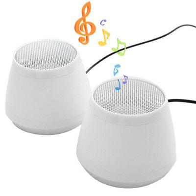 X6 USB Speaker Stereo for PC Laptop  -  2PCS