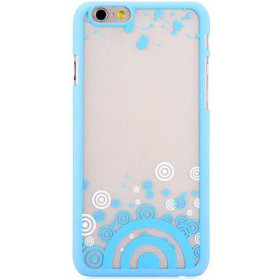 New Dual Colors Fluorescent Transparent PC Back Case Cover of Circle Pattern for iPhone iPhone 6  -  4.7 inches