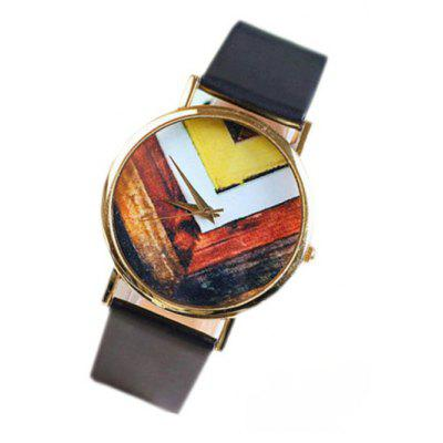 Vintage Geometric Pattern Watch For Women